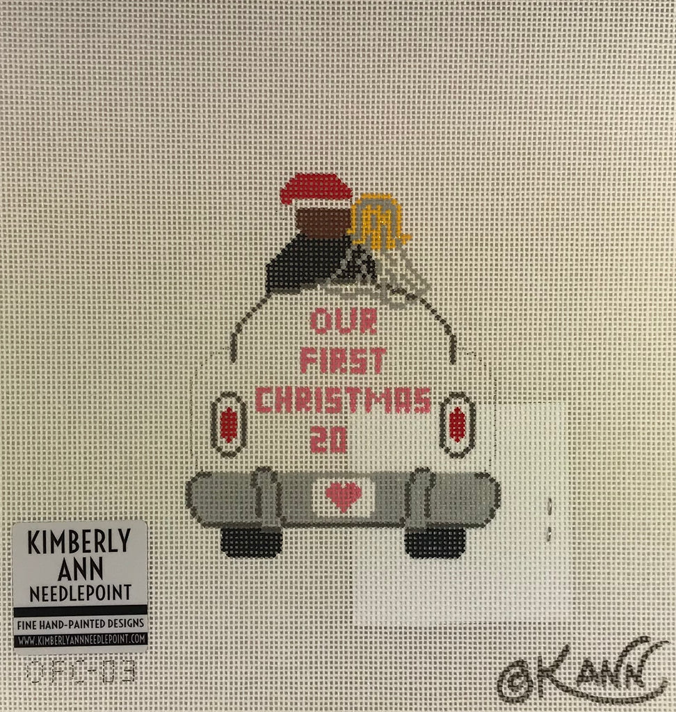 Kimberly Ann Needlepoint OFC 03 Just Married Car