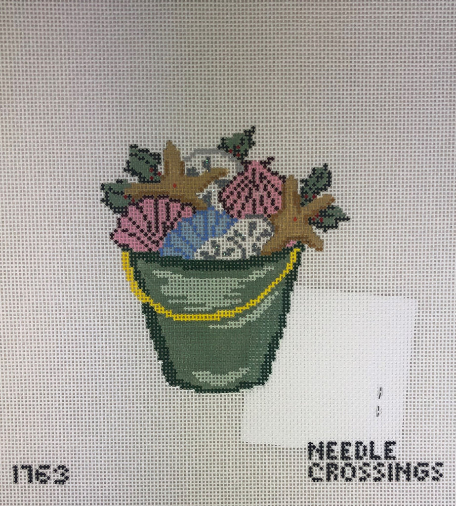 Needle Crossings NC1763 Holly & Shells Bucket