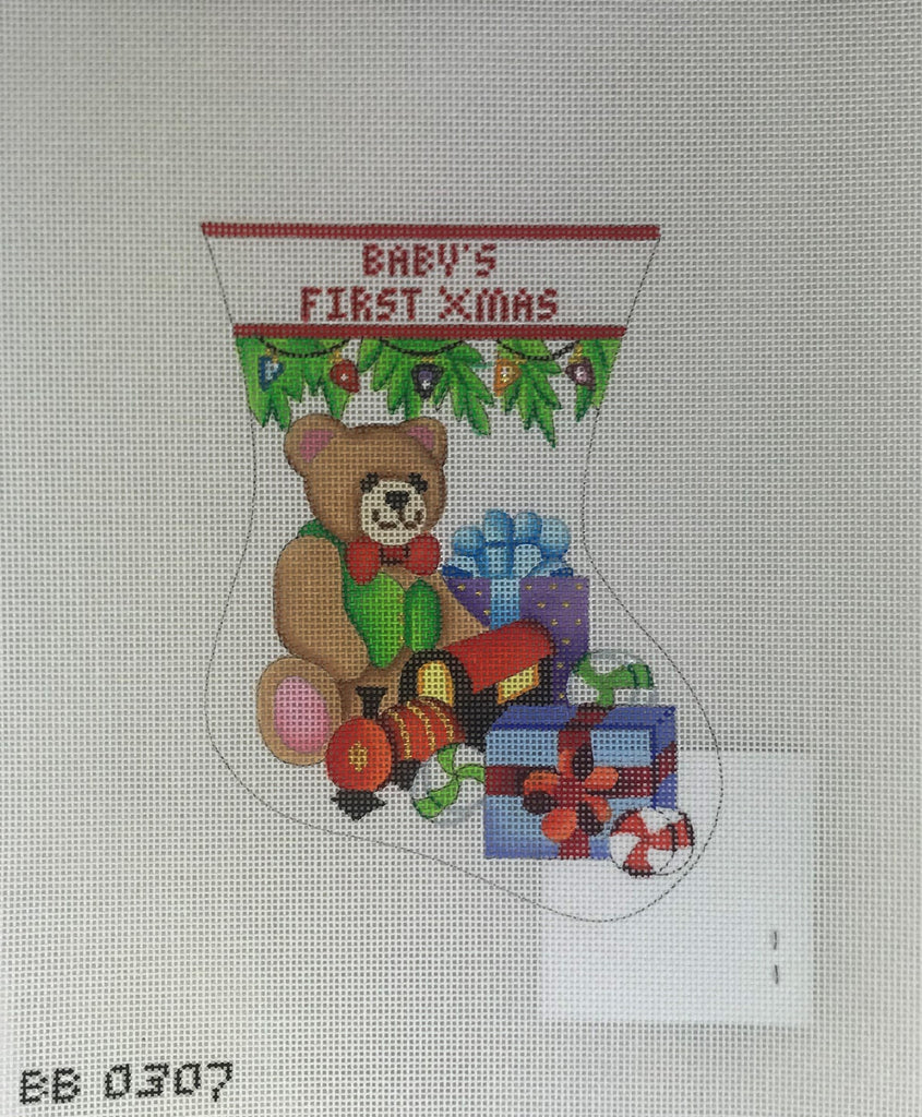 Burnett & Bradley 334 Baby's First Christmas Mini Stocking
