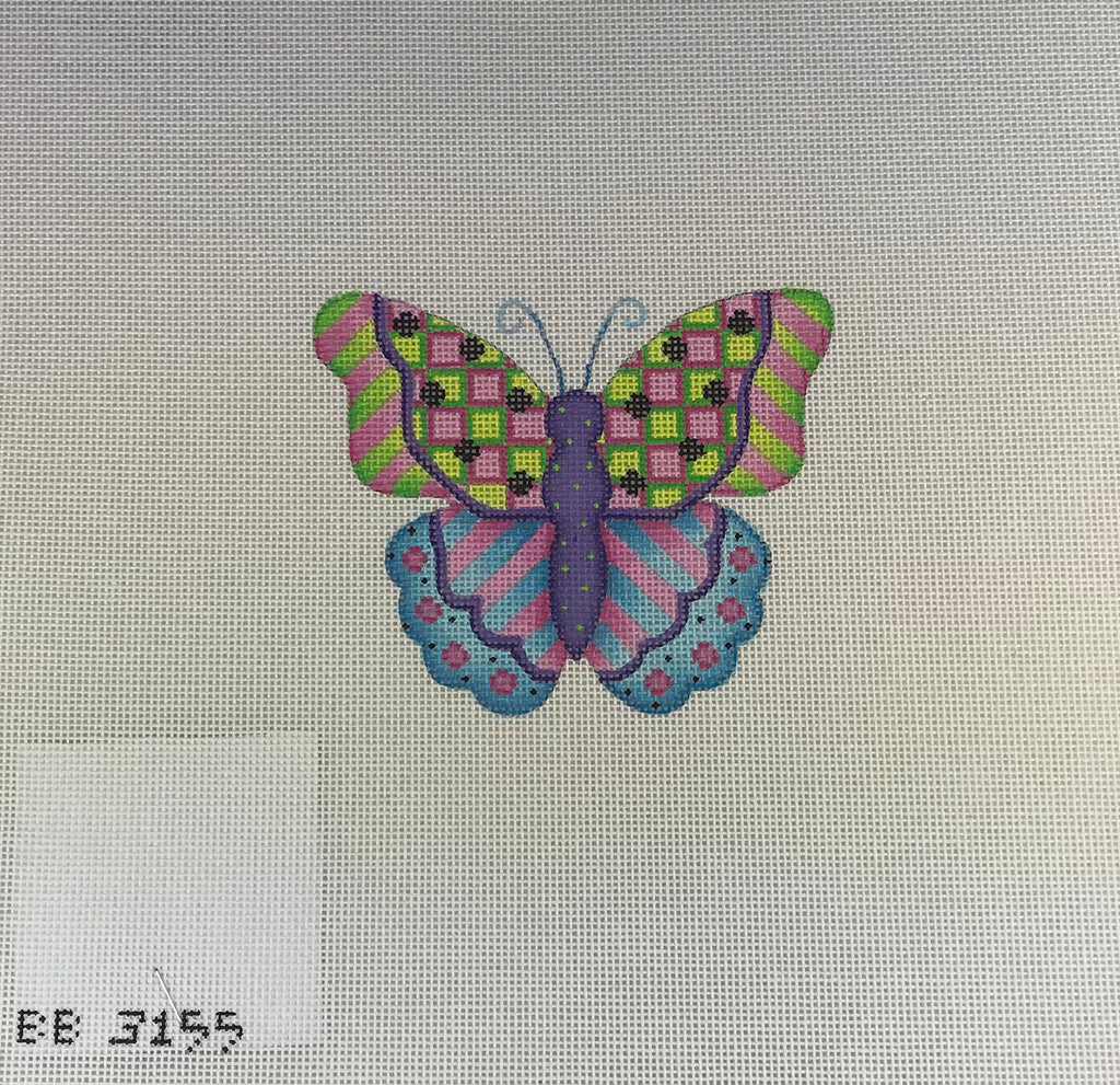 Kirk & Bradley BB3155 Green & Purple Butterfly