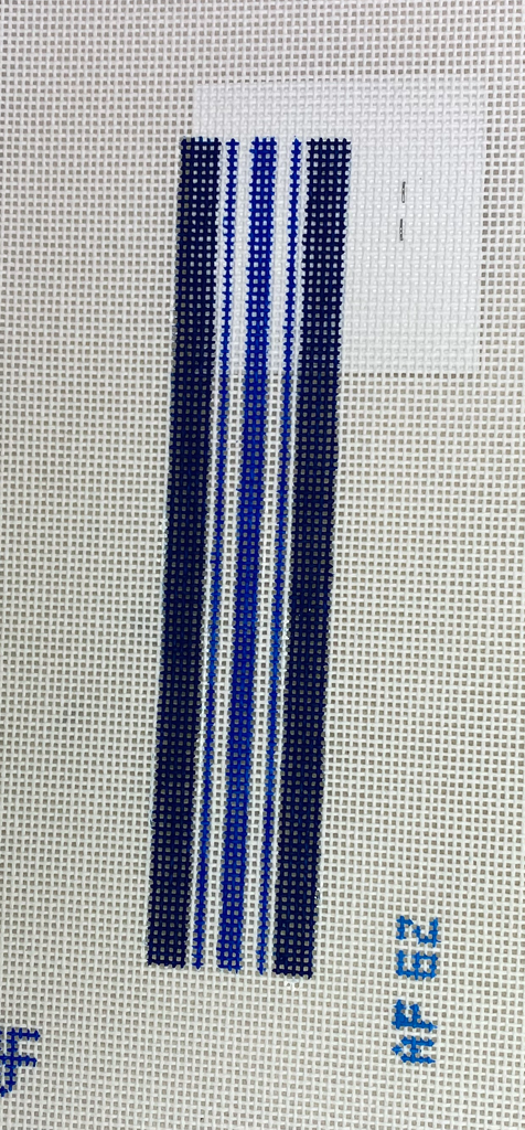 Anne Fisher Needlepoint AF62 Blue Stripe Key Fob