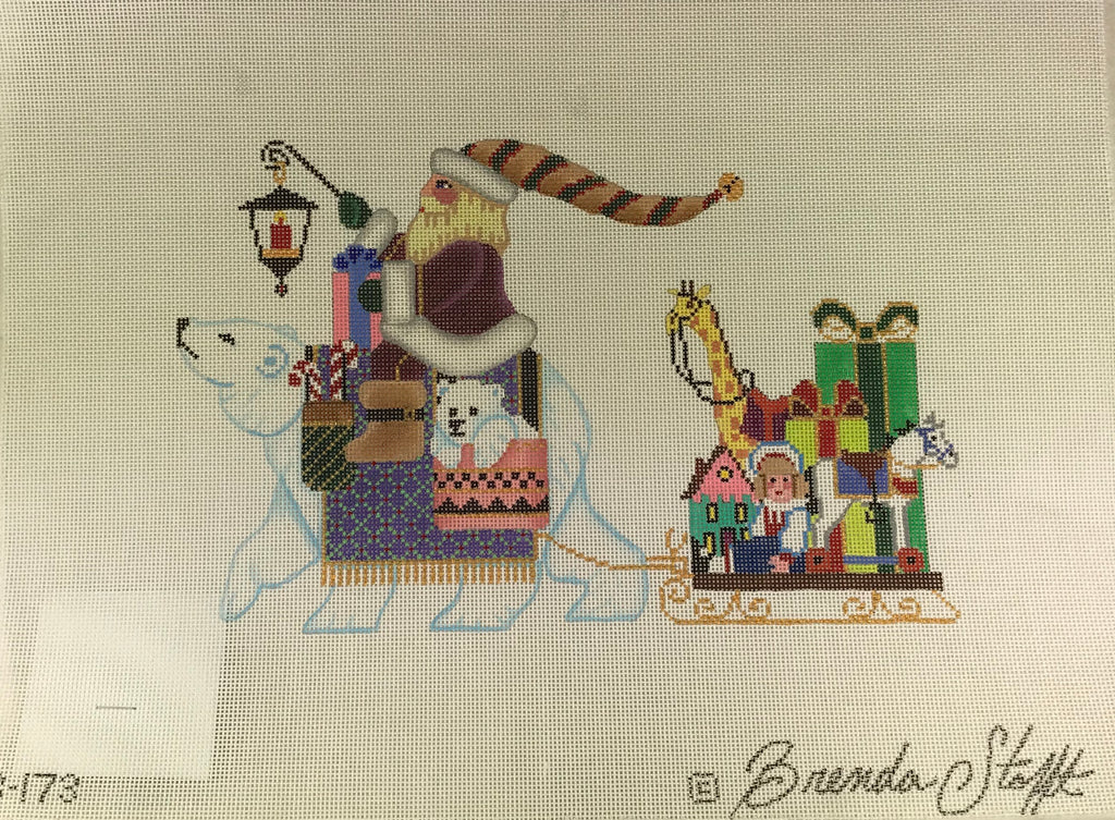 Brenda Stofft Design B173 Santa on Polar Bear