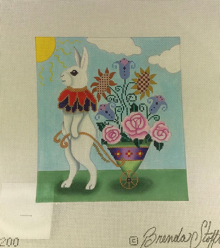 Brenda Stofft Design B200 Pete Rabbit with Flower