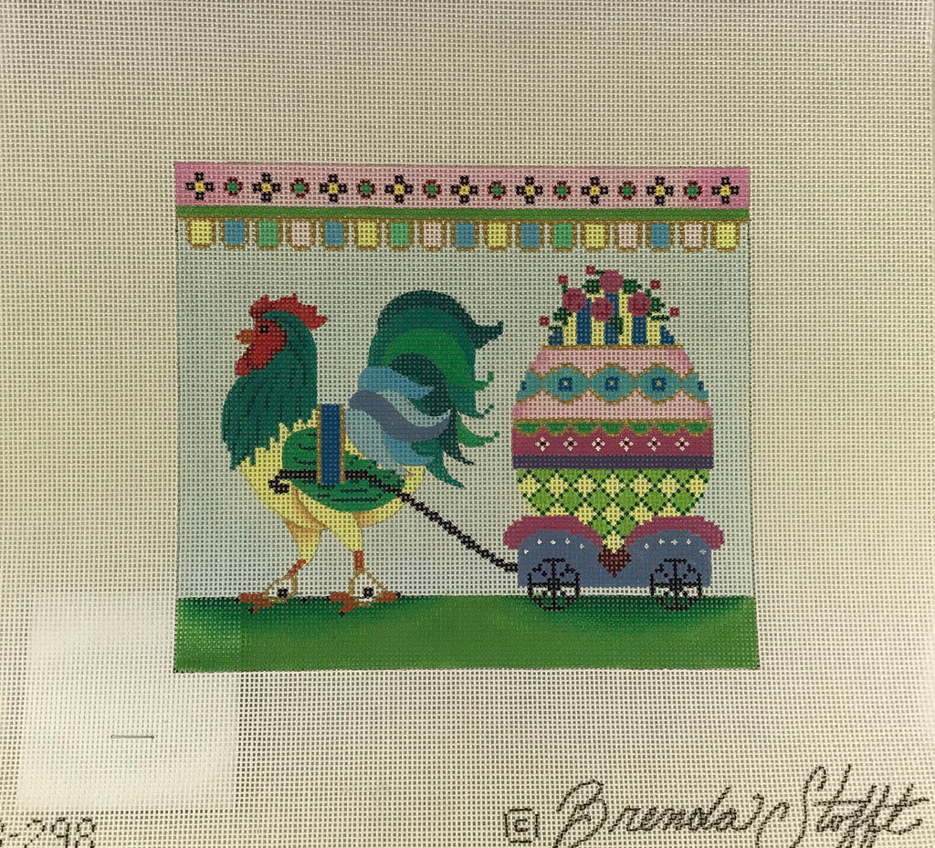 Brenda Stofft Design B298 Rooster and Egg