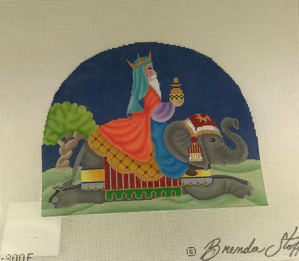 Brenda Stofft Design B300E Nativity Wise Man on Elephant