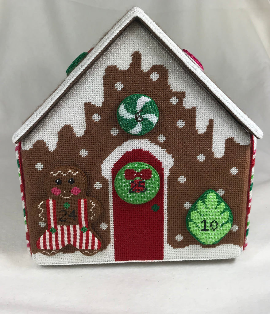 Rachel Donley Needlepointe 380 RD57 Gingerbread Advent Calendar