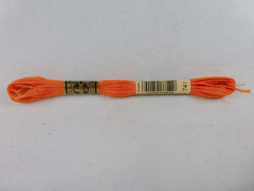 DMC Floss 741 Medium Tangerine by DMC From Beehive Needle Arts