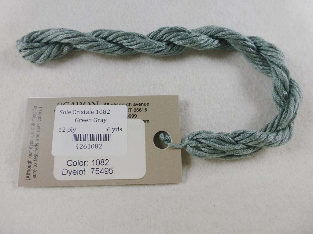 Soie Cristale 1082 Green Gray by Caron Collection From Beehive Needle Arts