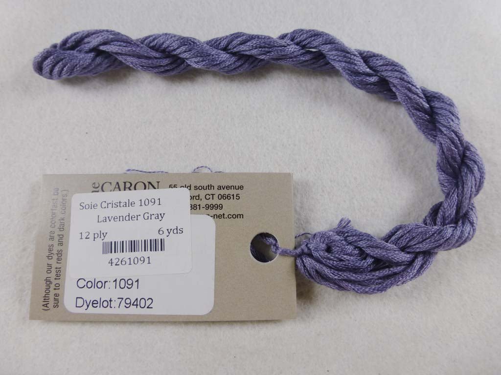 Soie Cristale 1091 Lavender Gray by Caron Collection From Beehive Needle Arts