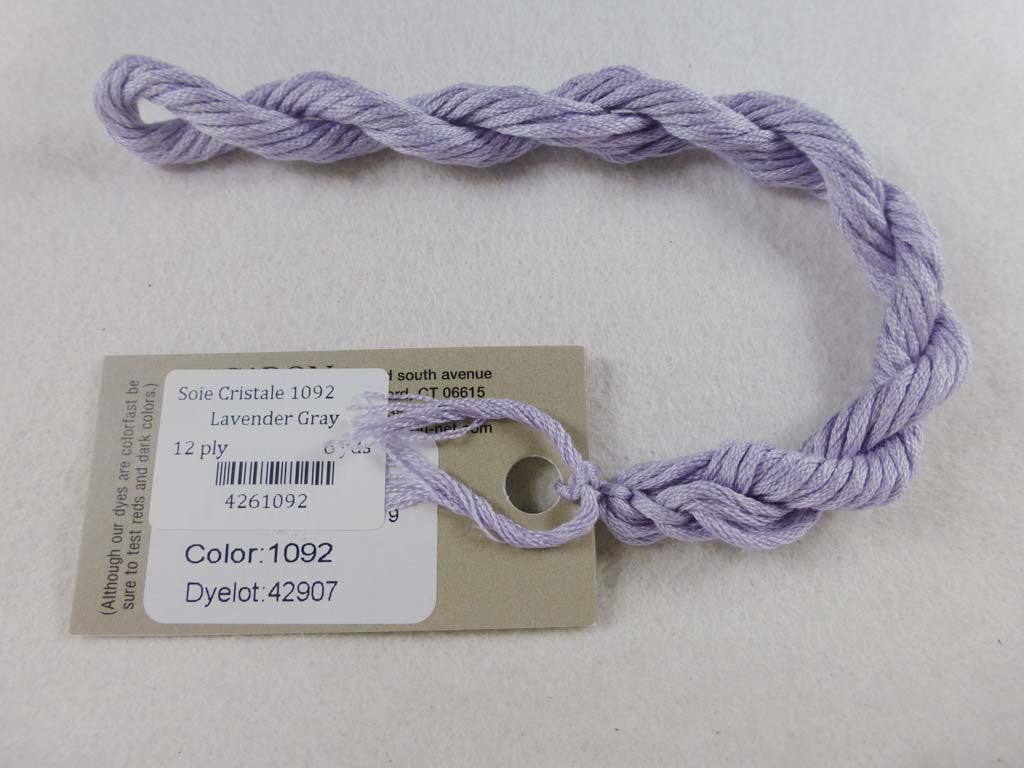 Soie Cristale 1092 Lavender Gray by Caron Collection From Beehive Needle Arts
