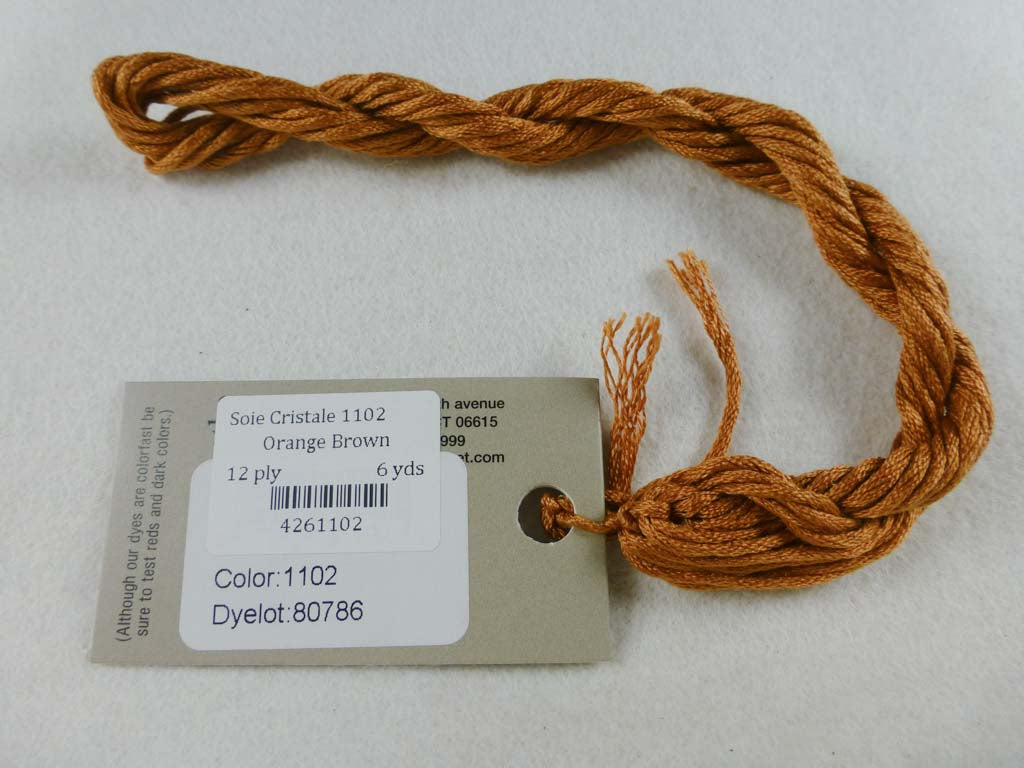 Soie Cristale 1102 Orange Brown by Caron Collection From Beehive Needle Arts