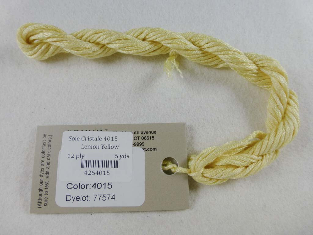 Soie Cristale 4015 Lemon Yellow by Caron Collection From Beehive Needle Arts