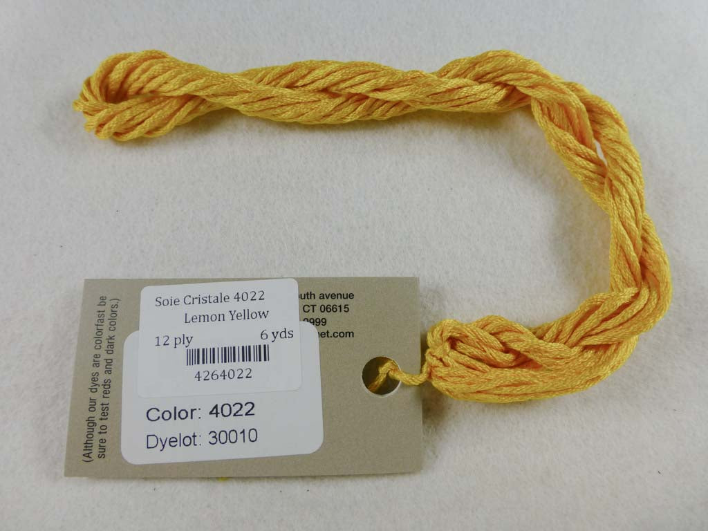Soie Cristale 4022 Lemon Yellow by Caron Collection From Beehive Needle Arts