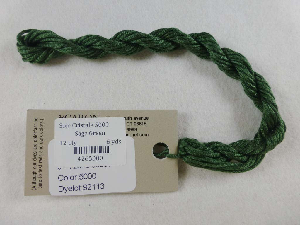 Soie Cristale 5000 Sage Green by Caron Collection From Beehive Needle Arts