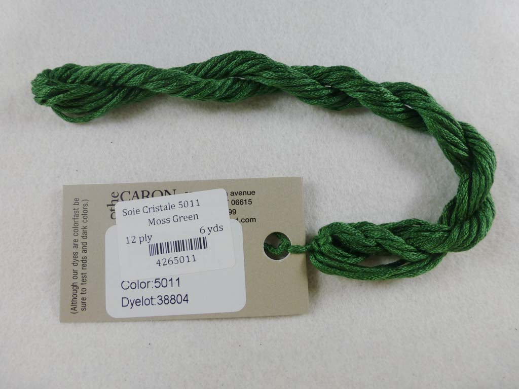 Soie Cristale 5011 Moss Green by Caron Collection From Beehive Needle Arts