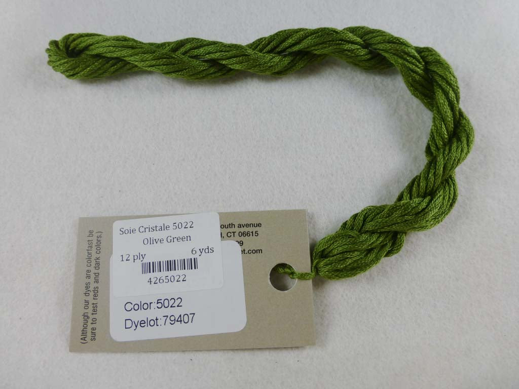 Soie Cristale 5022 Olive Green by Caron Collection From Beehive Needle Arts