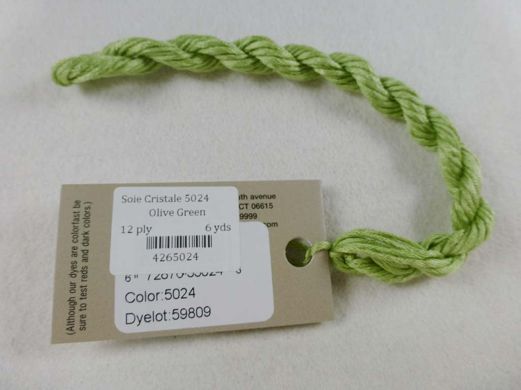Soie Cristale 5024 Olive Green by Caron Collection From Beehive Needle Arts