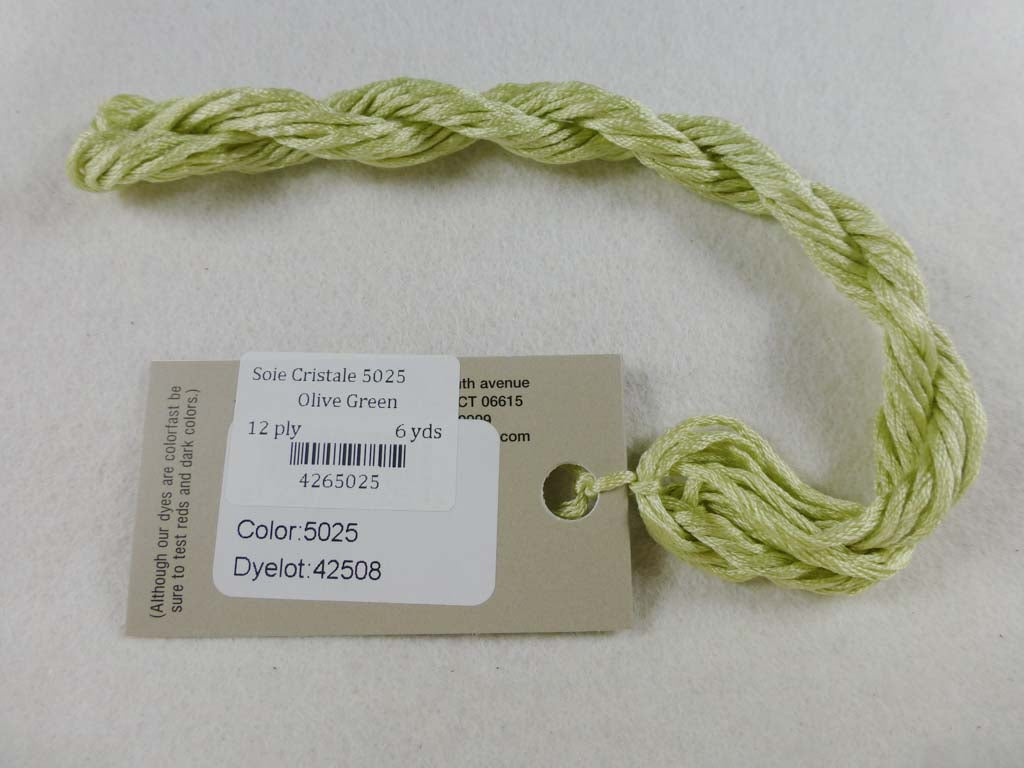 Soie Cristale 5025 Olive Green by Caron Collection From Beehive Needle Arts