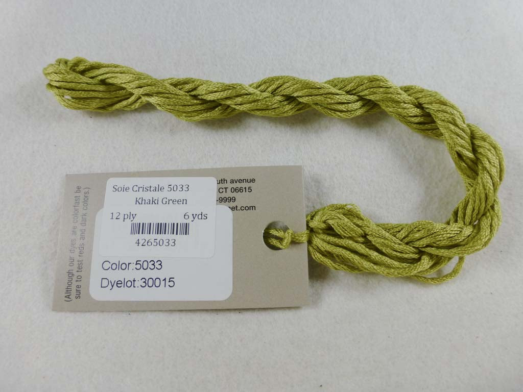 Soie Cristale 5033 Khaki Green by Caron Collection From Beehive Needle Arts