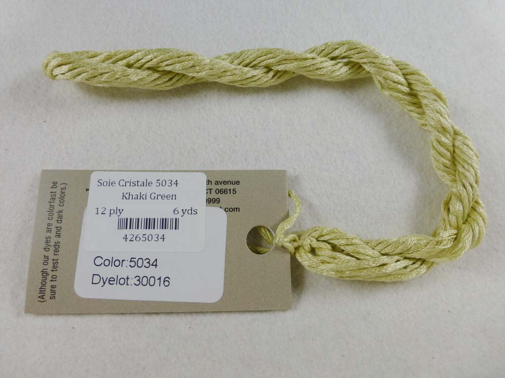 Soie Cristale 5034 Khaki Green by Caron Collection From Beehive Needle Arts