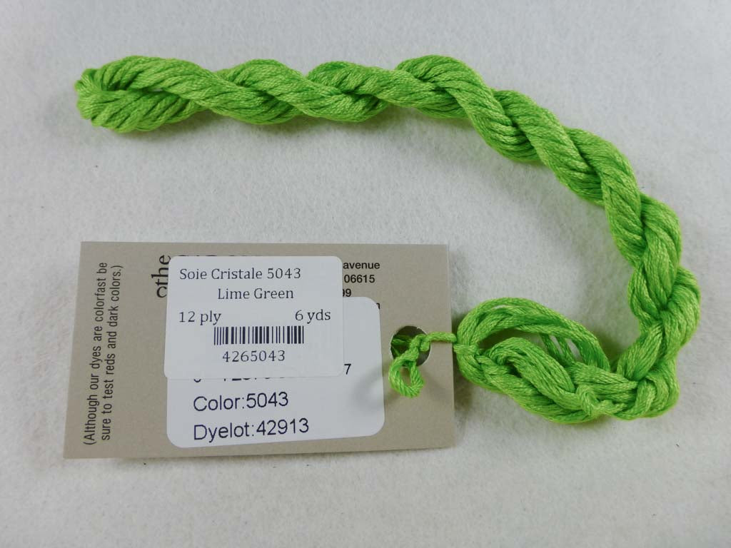 Soie Cristale 5043 Lime Green by Caron Collection From Beehive Needle Arts