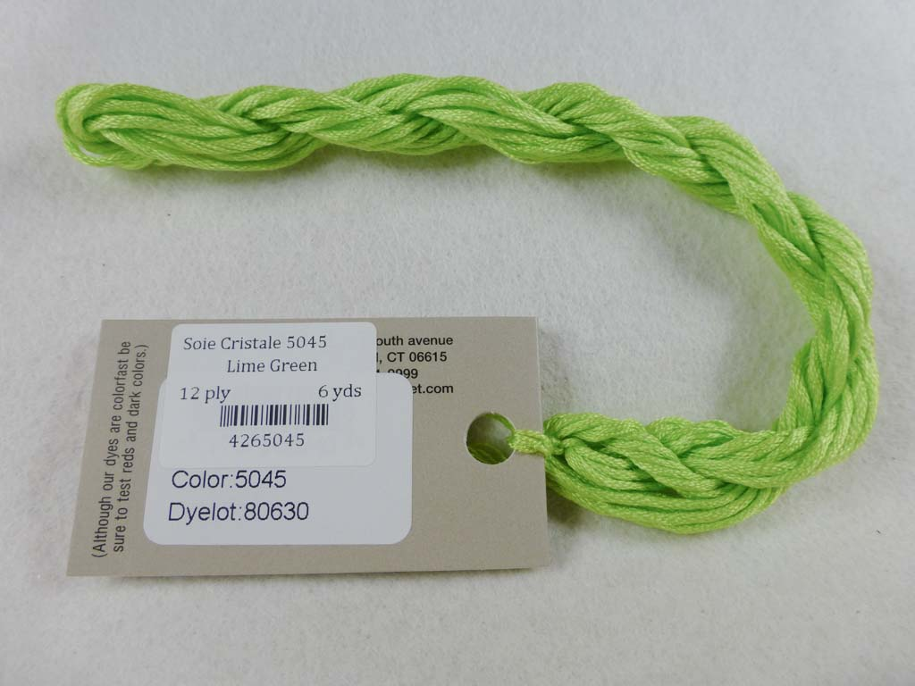 Soie Cristale 5045 Lime Green by Caron Collection From Beehive Needle Arts
