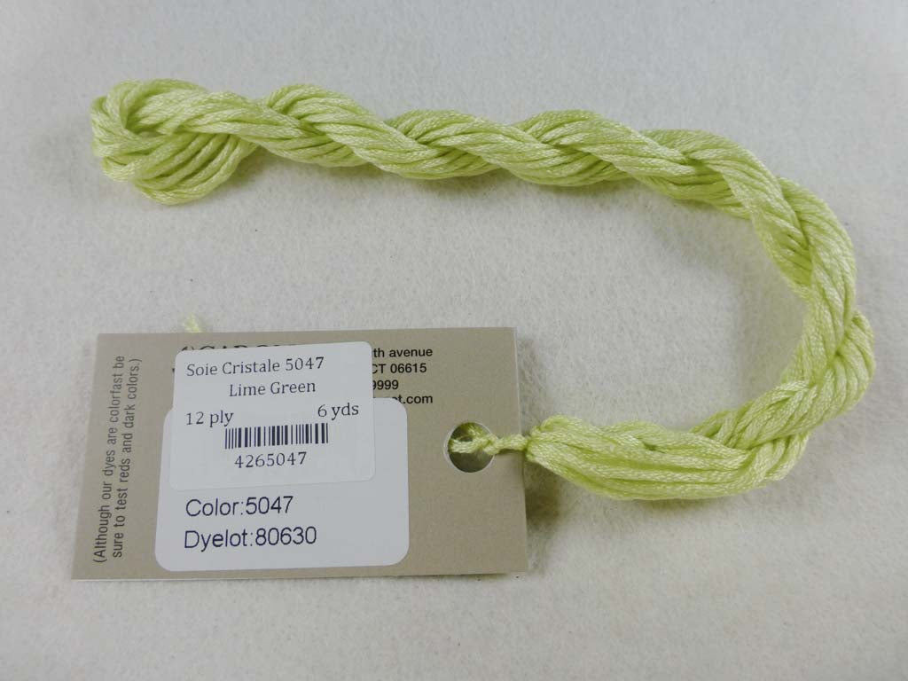 Soie Cristale 5047 Lime Green by Caron Collection From Beehive Needle Arts