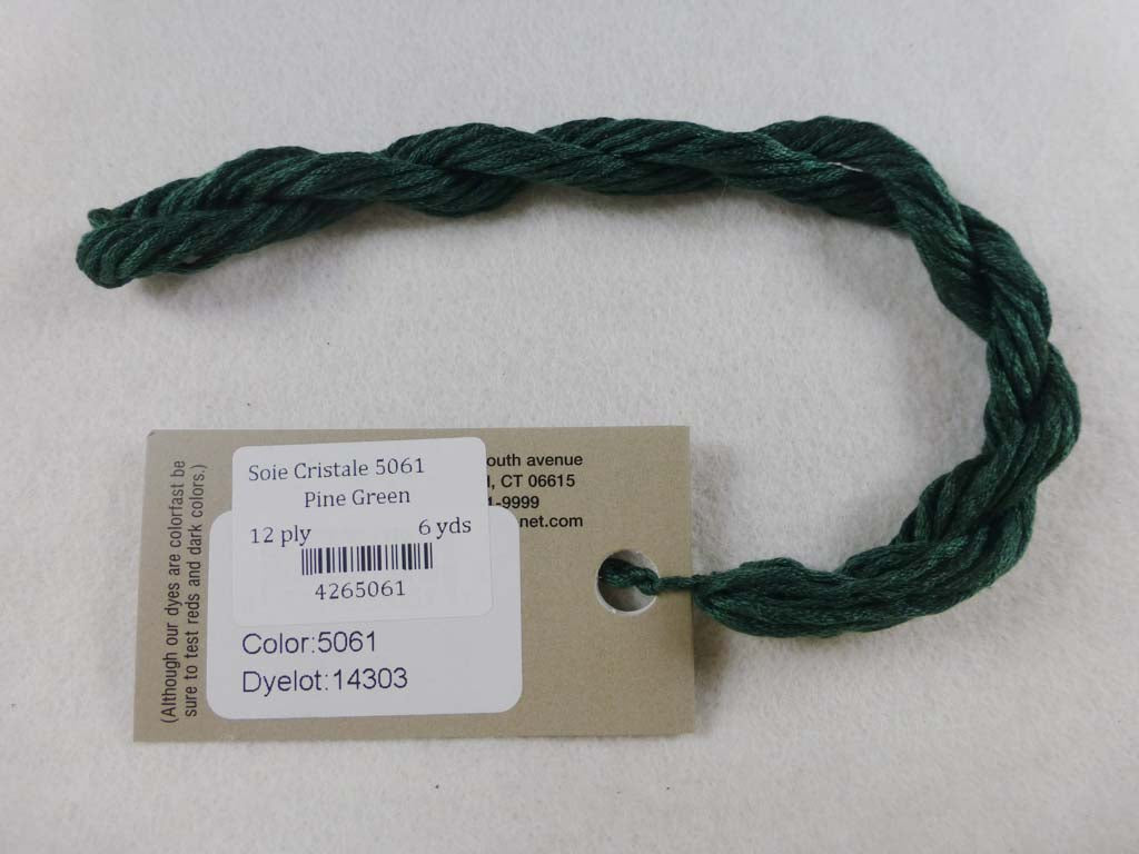 Soie Cristale 5061 Pine Green by Caron Collection From Beehive Needle Arts