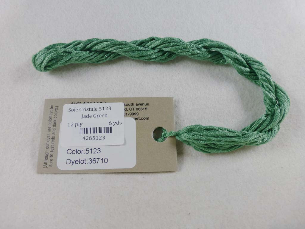 Soie Cristale 5123 Jade Green by Caron Collection From Beehive Needle Arts