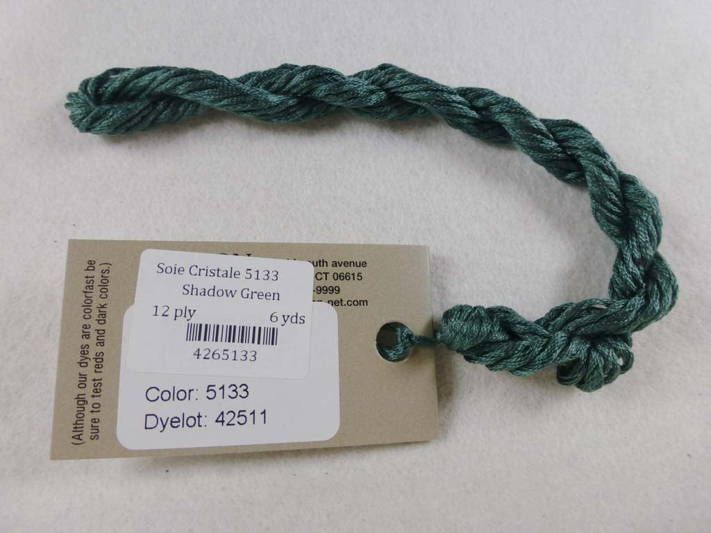 Soie Cristale 5133 Shadow Green by Caron Collection From Beehive Needle Arts
