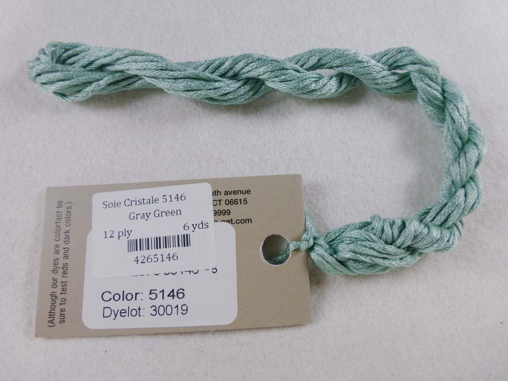 Soie Cristale 5146 Gray Green by Caron Collection From Beehive Needle Arts