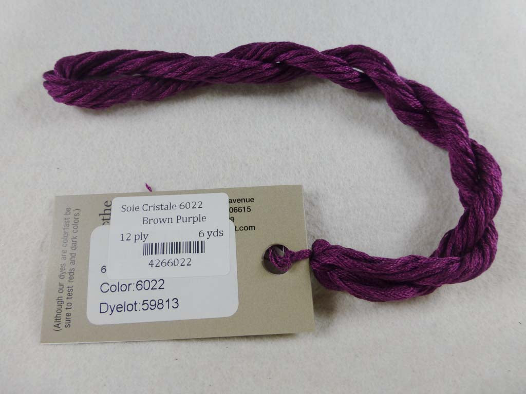 Soie Cristale 6022 Brown Purple by Caron Collection From Beehive Needle Arts