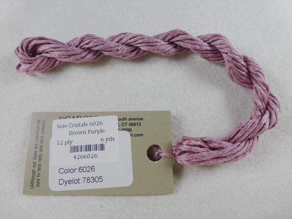 Soie Cristale 6026 Brown Purple by Caron Collection From Beehive Needle Arts