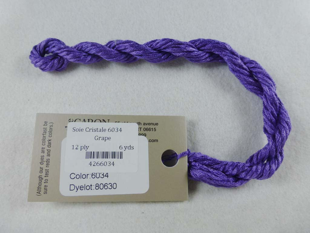 Soie Cristale 6034 Grape by Caron Collection From Beehive Needle Arts