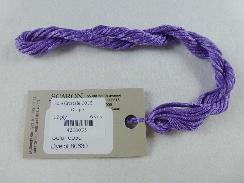 Soie Cristale 6035 Grape by Caron Collection From Beehive Needle Arts