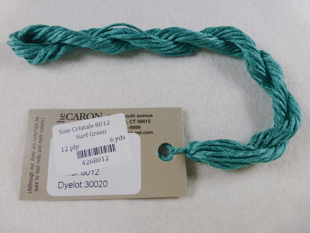 Soie Cristale 8012 Surf Green by Caron Collection From Beehive Needle Arts