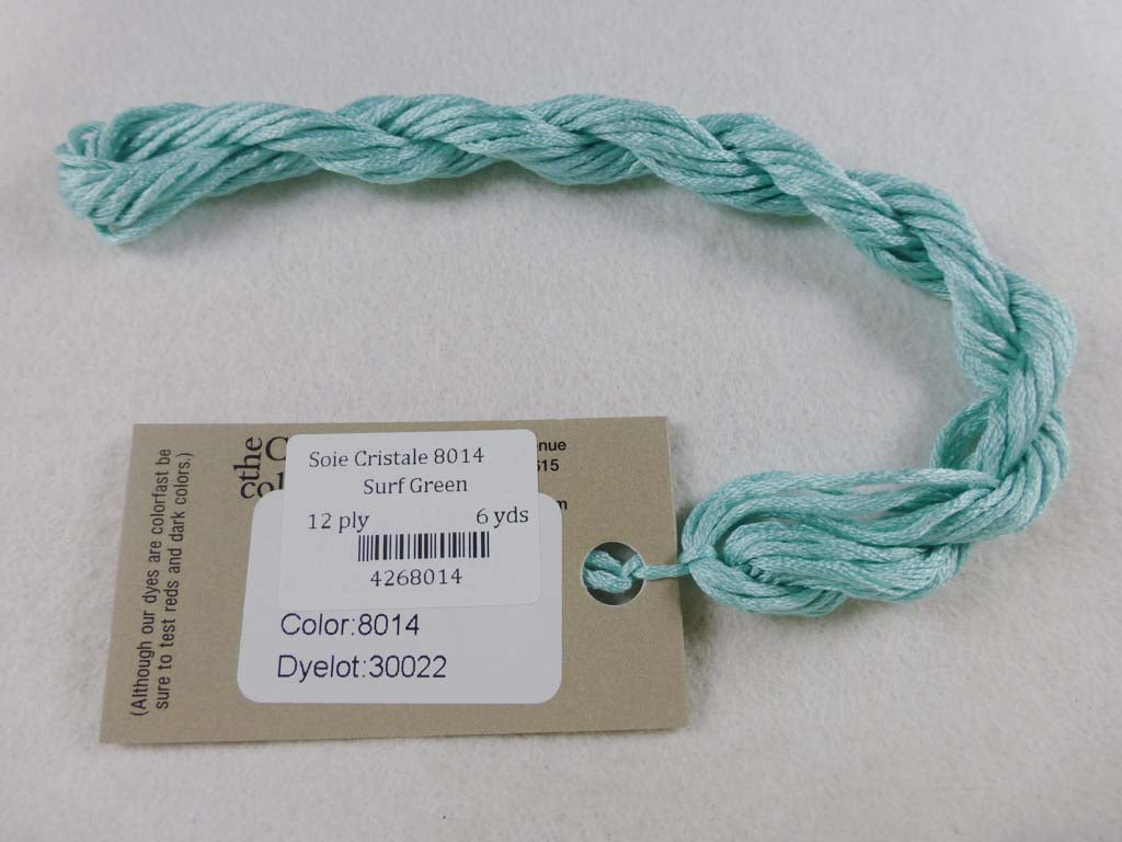 Soie Cristale 8014 Surf Green by Caron Collection From Beehive Needle Arts