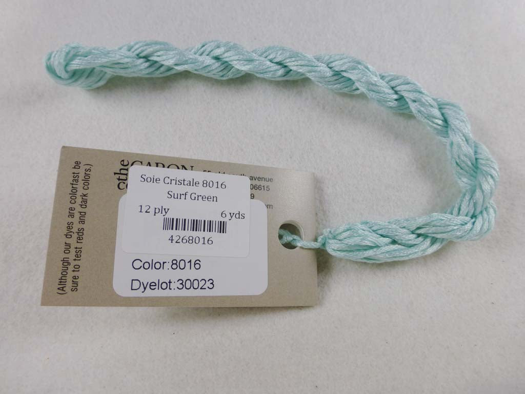 Soie Cristale 8016 Surf Green by Caron Collection From Beehive Needle Arts