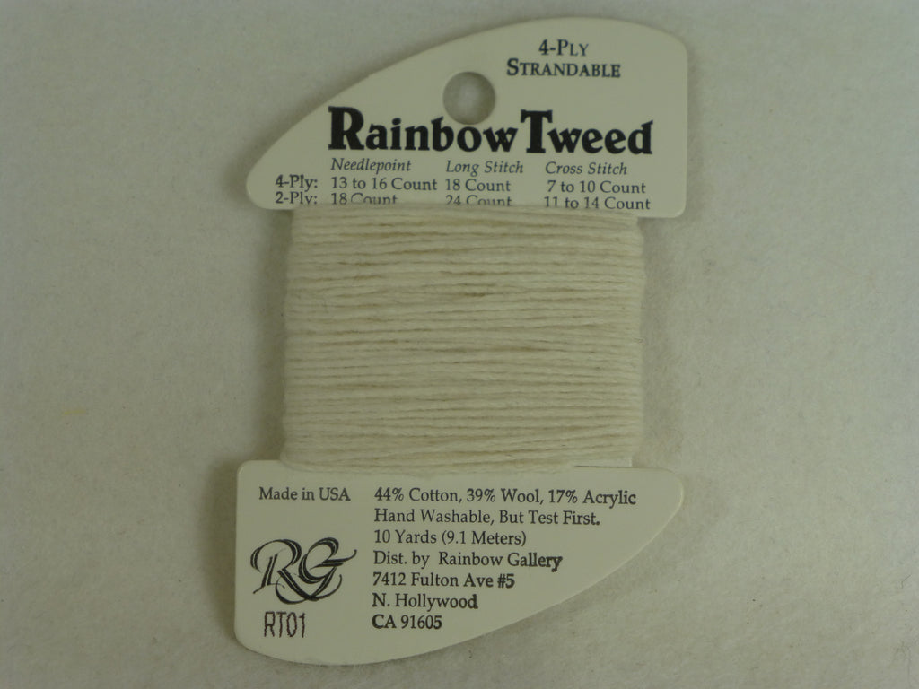 Rainbow Tweed RT01 Ecru