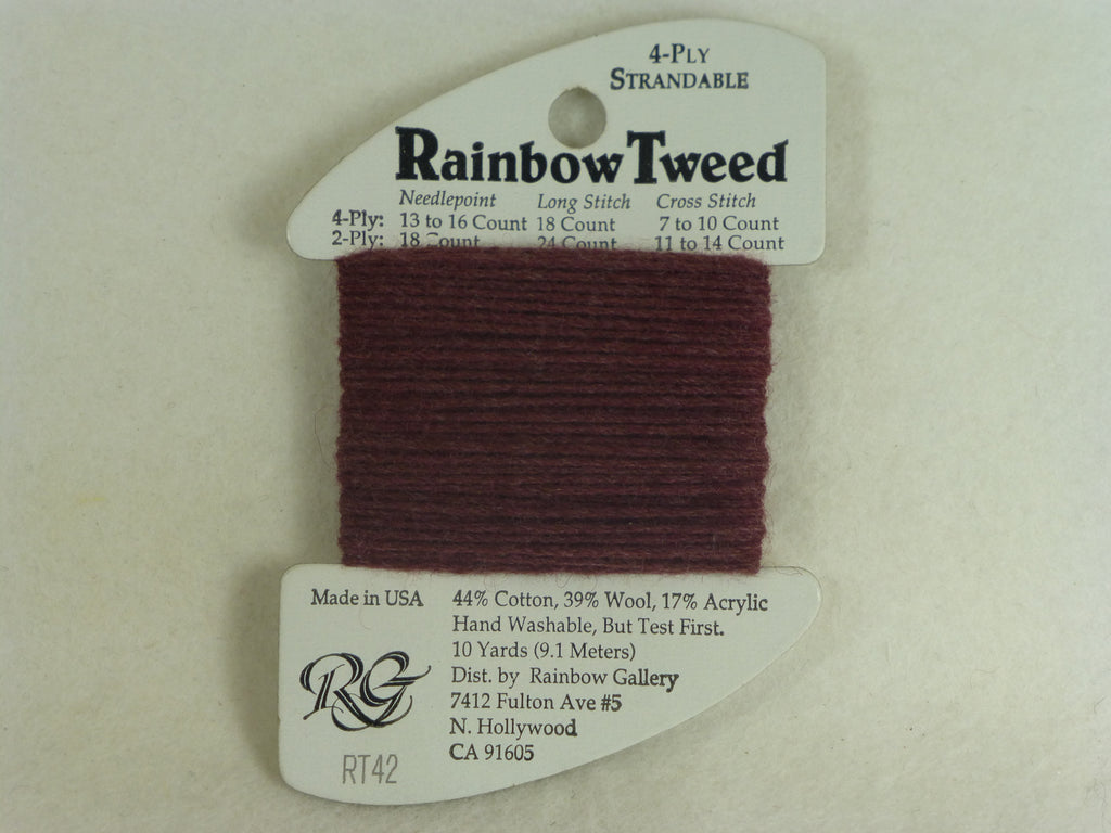 Rainbow Tweed RT42 Maroon