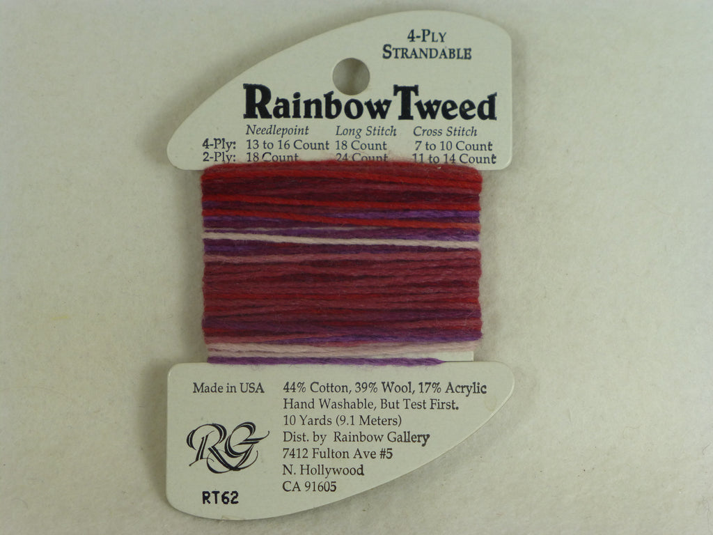 Rainbow Tweed RT62 Raspberry Swirl