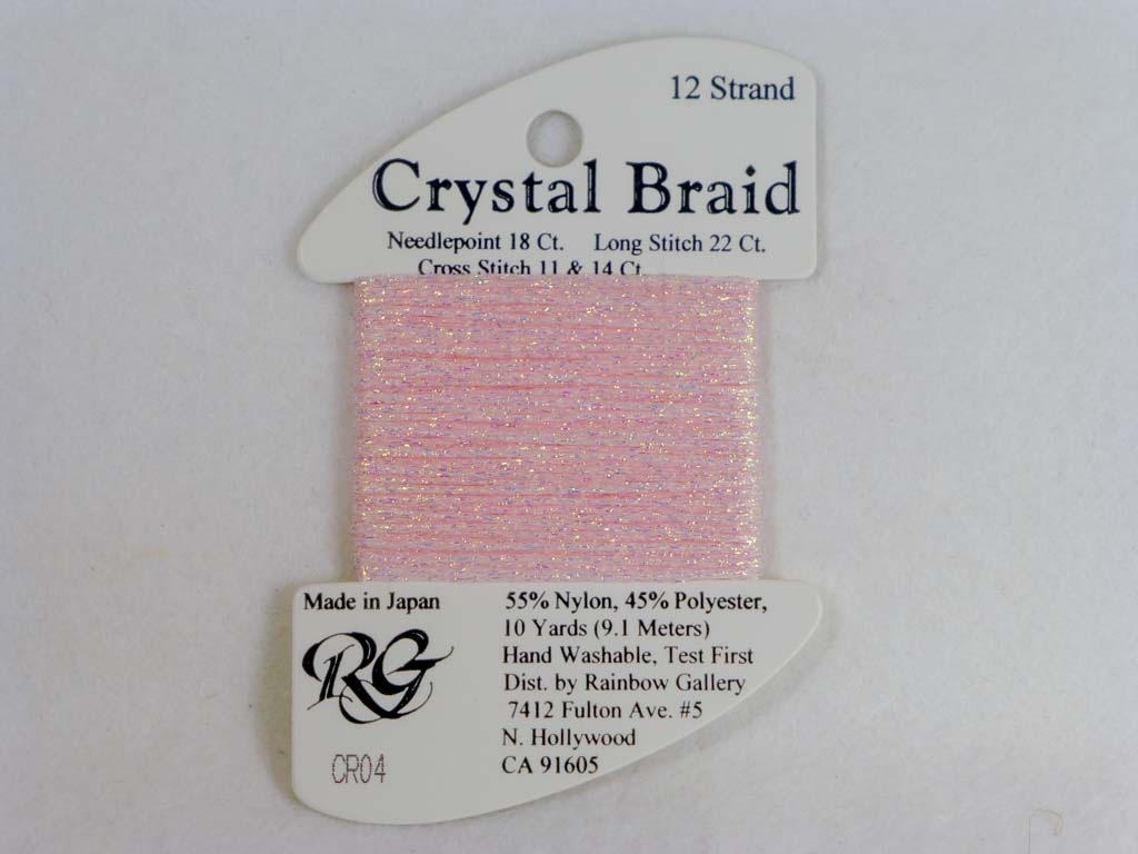 Crystal Braid CR04 Pink by Rainbow Gallery From Beehive Needle Arts