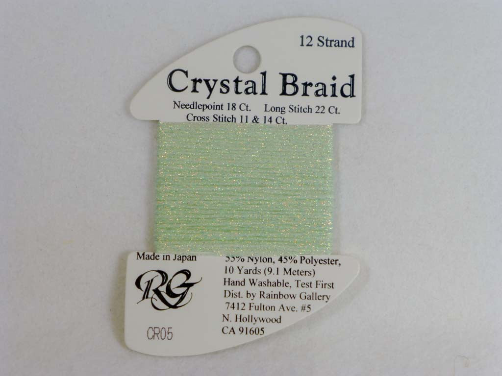 Crystal Braid CR05 Pale Mint Green by Rainbow Gallery From Beehive Needle Arts