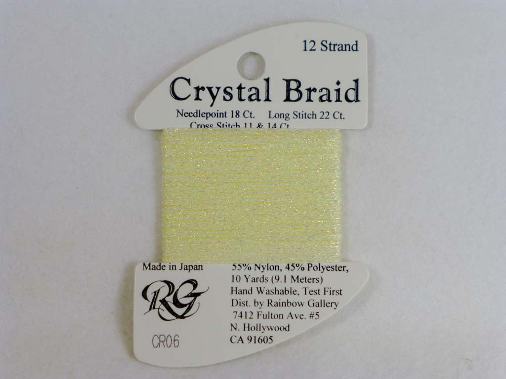 Crystal Braid CR06 Lemon by Rainbow Gallery From Beehive Needle Arts