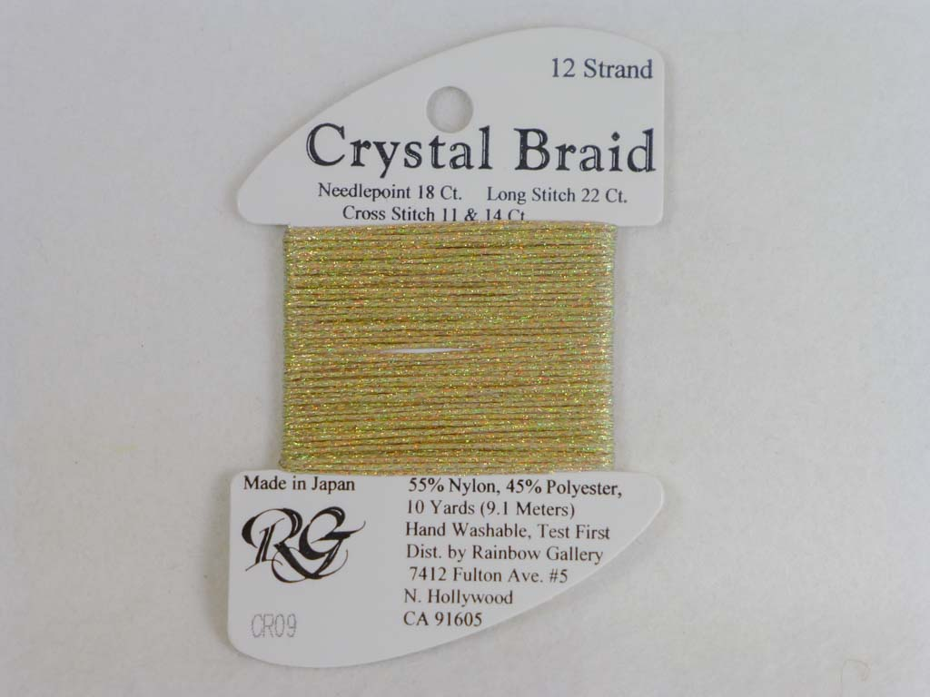 Crystal Braid CR09 Vatican Gold by Rainbow Gallery From Beehive Needle Arts