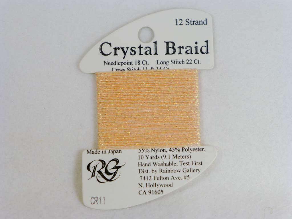 Crystal Braid CR11 Peach by Rainbow Gallery From Beehive Needle Arts
