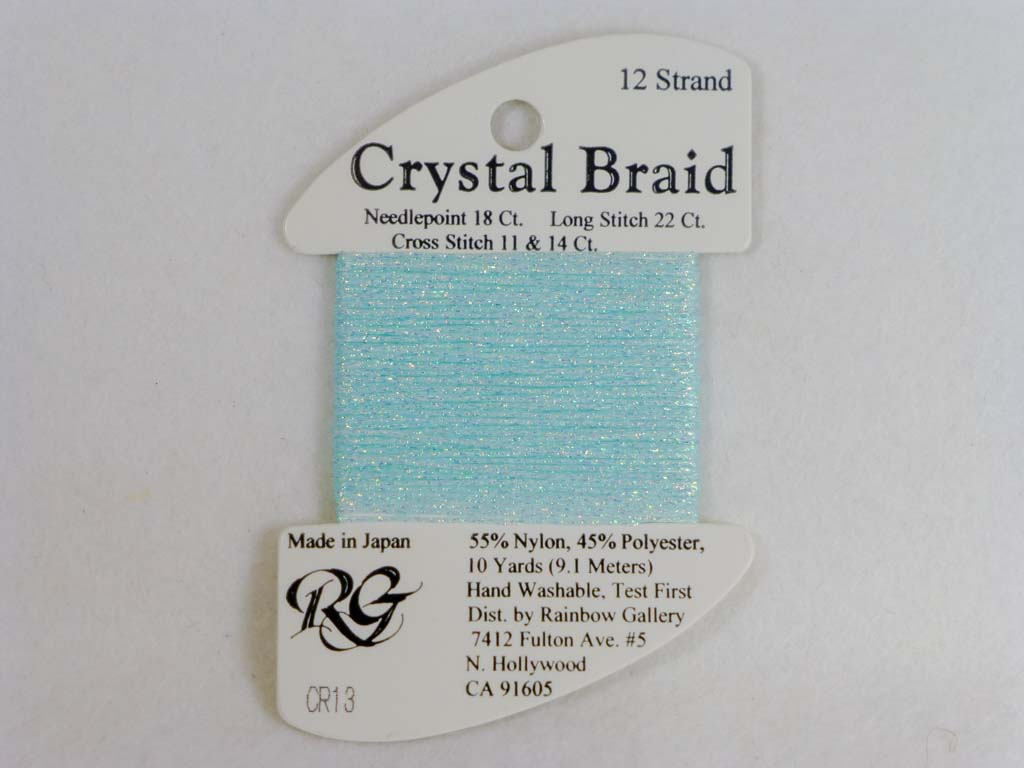 Crystal Braid CR13 Aqua by Rainbow Gallery From Beehive Needle Arts