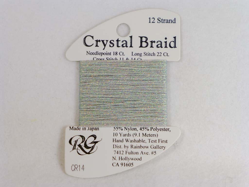 Crystal Braid CR14 Silver by Rainbow Gallery From Beehive Needle Arts