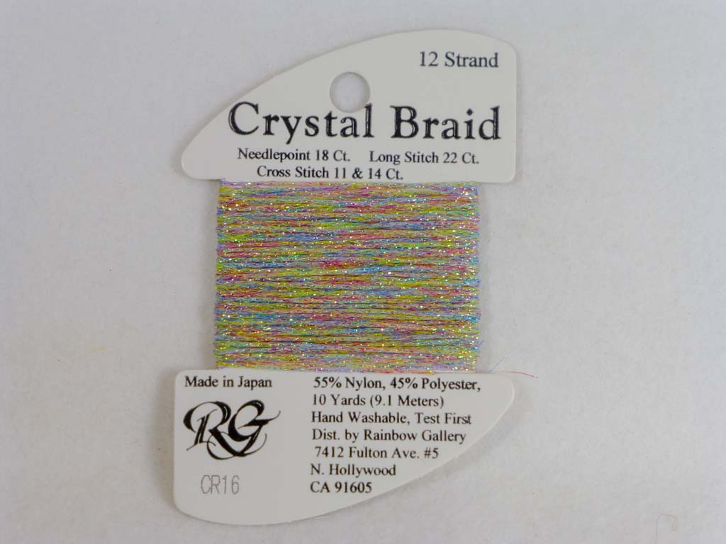 Crystal Braid CR16 Northern Lights by Rainbow Gallery From Beehive Needle Arts