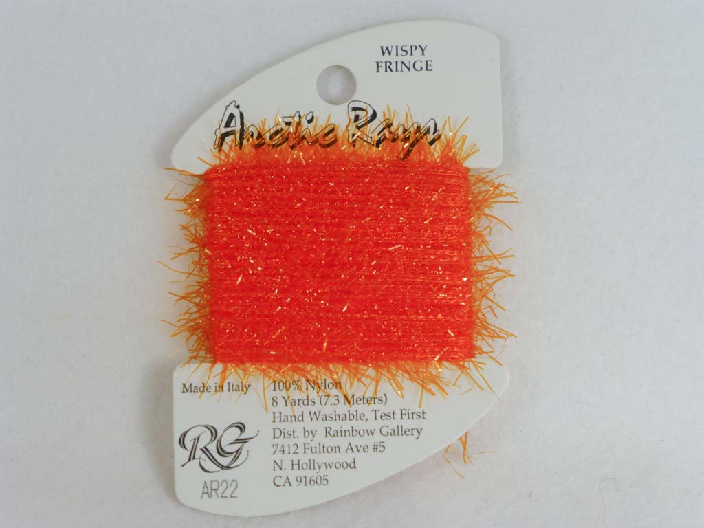Arctic Rays AR22 Brite Orange by Rainbow Gallery From Beehive Needle Arts